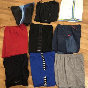 Lot of 9 Nike Jordan KAPPA MENS 2XL XXL BASKETBALL SHORTS Running Workout Swim