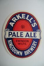 LARGE MINT ARKELL'S SWINDON PALE ALE BREWERY BEER BOTTLE LABEL