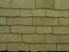 100 sq ins REAL Yorkshire Sandstone Dolls House REAL STONE Roof Slabs