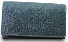Hill Burry Luxury Designer Ladies Wallet Purse Buffalo Leather Used Look Black