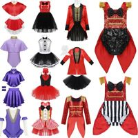 Kids Baby Girls Greatest Circus Show Ringmaster Fancy Dress Up Party Costume