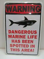 """B4C270 /""""Tsunami Warning/"""" Aluminum Metal Sign 12"""""""