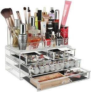 Clear Cosmetic Organiser Acrylic Makeup Drawer Holder Jewellery Case Box Storage