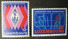Luxembourg 1987 anniversaries amateur radio 2 values MNH communications