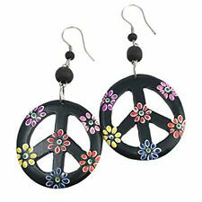 hippie earrings peace sign jewelry costume accessories boho bohemian