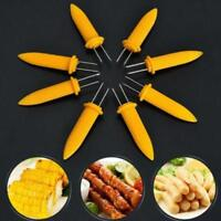 10pcs BBQ Kitchen Corn on the Cob Holders Skewers Prongs Forks Picks Accessories