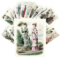Postcards Pack [24 cards] Victorian Fashion Vintage Vogue Magazine CC1134