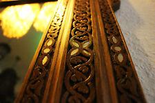 Orientalische Massive Holzrahmen mit Spiegel aus Massiver Buche,Damaskunst M 3-2