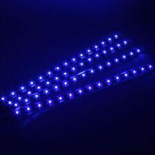 4x15 SMD 12V LED 30cm Car Auto Flexible Grill Light Lamp Strip Waterproof Blue