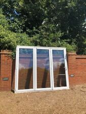 exterior external Upvc double glazed bifolding doors in frame