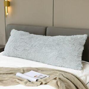 Long Pillowcase Bohemian Fuzzy Shaggy Plush Decorative Pillow Cover Couch 57x20