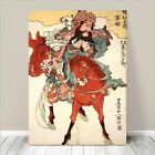 "Cool Japanese SAMURAI Warrior & Horse Art CANVAS PRINT 36x24""~ Kuniyoshi #151"
