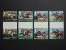 GB 2017 Racehorse Legends top 4 values in GUTTER pairs MNH (S.G. 3944-3947)