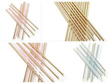 16 Extra Tall Candles & Holders 18cm Birthday Party Cake Topper Decoration Pick