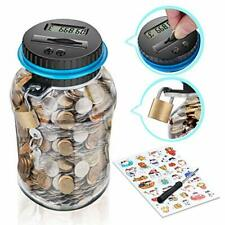 Digital Coin Bank, Piggy Banks for Kids, Money Box with Ultra-Large Capacity,