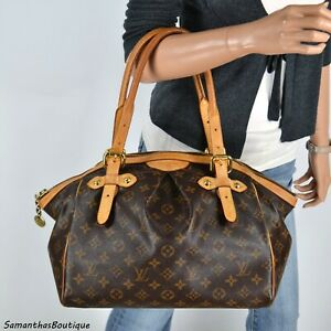 LOUIS VUITTON TIVOLI GM MONOGRAM LEATHER SATCHEL SHOULDER BAG HANDBAG PURSE