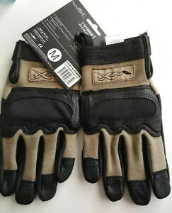 WILEY X TACTICAL FLAME RESISTANT COMBAT GLOVES HYBRID KNUCKLES REMOVABLE MEDIUM!