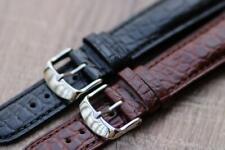 Genuine Alligator Leather Elegant Watch Strap Padded