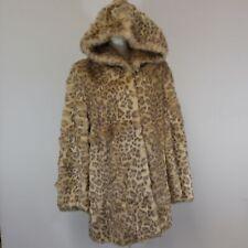 Pamela McCoy Leopard Faux Fur Hooded Coat - EXTRA LARGE NWOT!!