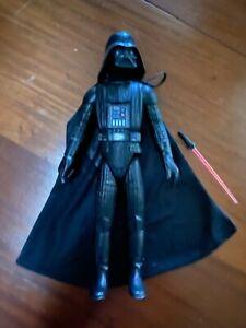 """1978 Star Wars   15"""" Action Figure   GMFGI HK   Darth Vader + Cloth Cape + Saber"""
