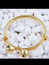 1pc 14k Gold fillled baby Bracelet Rigide Réglable Garçon Fille 0-6 cadeau de Noël