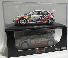 CARS : SET OF 2 PEUGEOT 206 DIE CAST MODELS MADE BY SAICO