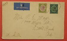 1936 BRITISH HONDURAS BELIZE AIRMAIL TO USA