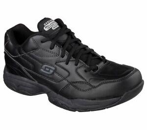 77032 Skechers Men's FELTON-ALTAIR Work Shoes Non Slip Black Unisex A2