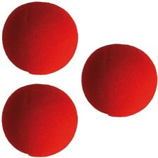 3 Stück Schaumstoff-Clownnase Clown-Nase rote Clownsnase Party Nose Ø ca. 6 cm