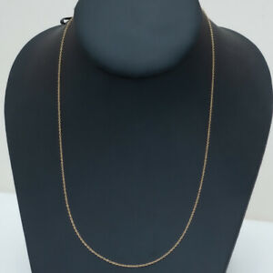 """New DAVID YURMAN 18K Yellow Gold 1.1mm Oval Link Chain Necklace 16-18"""""""