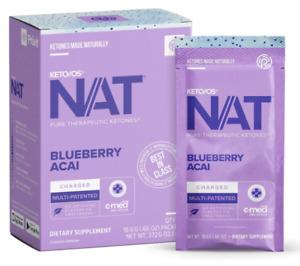 Pruvit Keto OS Nat Blueberry Acai 20 Packets New Box Sealed Exp Date: 09/2022