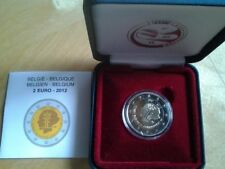 BELGICA 2012 2 EUROS QUEEN ELIZABETH COMPETITION PROOF ESTUCHE OFICIAL PP.