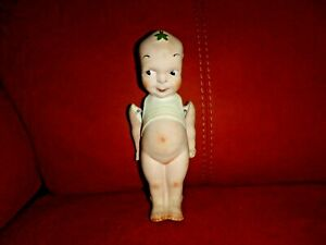VINTAGE ALL BISQUE WW1 FUMSUP KEWPIE LUCKY MASCOT DOLL 8 INCHES