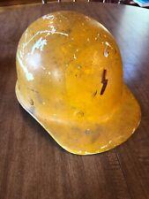 Vintage SuperGlas Fibre Metal Fiberglass Duck Bill Hard Hat Yellow