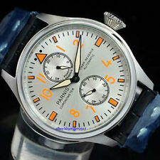 47mm Parnis Men's Automatic Watch Seagull Power Reserve Movement Wristwatches