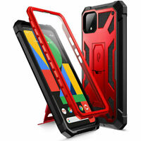 Poetic For Google Pixel 4 XL Shockproof Case,Full Coverage Protective Cover Red