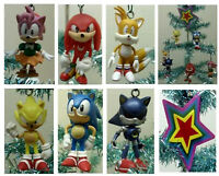 Sonic Christmas Ornament 7 Piece Set Featuring Tails, Knuckles, Sonic  BRAND NEW