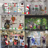 Merry Christmas Wall Removable Home Vinyl Window Wall Stickers Decal Decor Set
