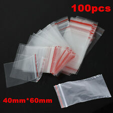 Wholesale 100PCS  4X6cm Ziplock Zipped Lock Reclose Plastic Clear OPP Bags New
