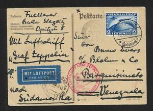 ZEPPELIN VENEZUELA INCOMING AIRMAIL GERMANY COVER 1930