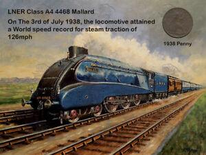 Steam Engine The  Mallard 1938 Record Speed Metal Coin Set 3 Designs To Choose