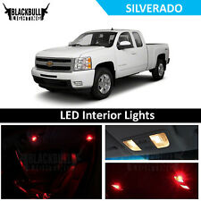 Red LED Interior Lights Accessories Package Kit fits 2007-2013 Chevy Silverado