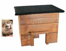 DIY Igelhaus wetterfest abnehmbares Dach inkl. Katzenschutz Trennwand Massivholz