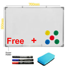 700 X 500MM Office School Magnetic Dry Whiteboard Drawing Memo Notice Board UKES