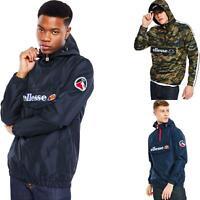 Ellesse Mont II 1/4 Zip Front Popover Jacket Black, Blue, Camo - XS, S, M, L, XL