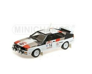 1/18 MINICHAMPS Audi Quattro N°14 Sheep / Pons Winner San Remo 1981 Prize Home