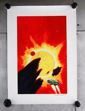 "Chris Moore Signed Spaceship Space Scifi Science Fiction Art Print 23"" x 16"""
