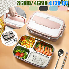 Stainless Steel Thermos Thermal Lunch Box Bento Food Container Handle Kids Adult