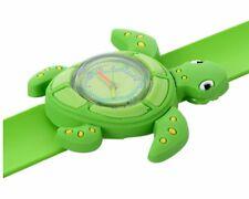 Quality Green Turtle Wristwatch Boys Girls Kids Wrist Watch Easy Slap Strap QTY