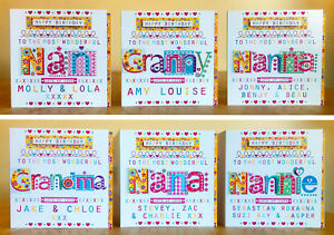 NANA personalised birthday card personalised Card for NAN GRANDMA GRAN NANNY